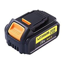 Tobatt 20V Battery for Dewalt Max XR 5.0Ah Lithium DCB200 DCB180 Cordless Tools