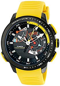 Timex Men's TW2P44500DH Intelligent Quartz Yacht Racer Watch With Yellow Silicone Band
