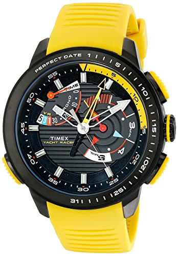Chrono Racer - Timex Men's TW2P44500DH Intelligent Quartz Yacht Racer Watch With Yellow Silicone Band
