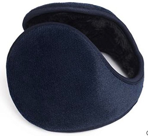 HIG Ear Warmer Unisex Soft Plush Fleece Outdoor Winter Earmuffs (Blue)