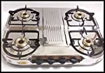 Stainless Steel LPG Gas Stove Table Cook Top 4 Four Burners