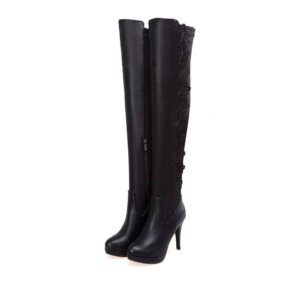 0574d18a98f Amazon.com | Btrada Women's Over The Knee Boots Sexy Lace Up Female ...