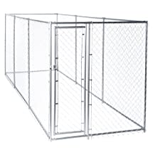 Chain Link Dog Kennel ‰ÛÒ Lucky Dog Outdoor Heavy Duty Pet Kennel ‰ÛÒ This Pet Cage System is Perfect For Containing Larger Dogs and Small Animals. Galvanized chain link doesn't kink or tangle. Two setup options (5‰ÛªW x 15‰ÛªL x 6‰ÛªH or 10'W x 10'L x 6'H)