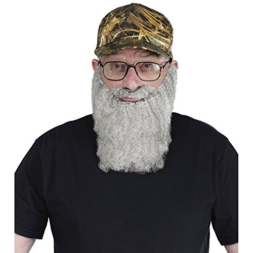 MyPartyShirt Uncle Si Crazy Quackers Camouflage Baseball Cap with Beard