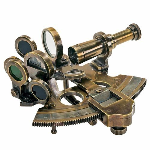Authentic Models Bronze Pocket Sextant by Authentic Models