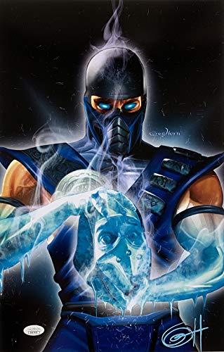 Mortal Kombat Sub Zero 11x17 Lithograph Signed By Greg Horn JSA]()