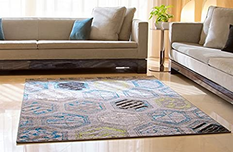 Luxury Distressed Modern Rugs for Living Rooms Large 8x11 Area Rugs on Clearance under 100 Gray Blue Green Black 8x10 Contemporary Rugs Dining Room Rugs, Large 8x11
