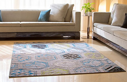 Luxury Distressed Modern Area Rugs For Living Room 5x8 Gray