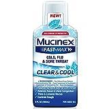 Mucinex Fast-Max Clear & Cool Cold, Flu, & Sore Throat Liquid, 6oz