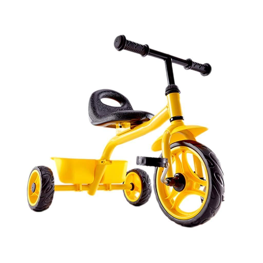 Yuany Dreirad, Kinder-Mehrzweck-Dreirad, 2-6 Jahre altes Baby-Outdoor-Dreirad, Gelb, 73x48cm
