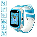 Kids Smartwatch with Games,2G Nano SIM Card, GPRS, LBS,GSM,Waterproof,Shockproof,SOS Call/Flashlight, Weather Forecast,Alarm Clock,Photo Album and Remote Camera and Voice Monitor(Blue) Review