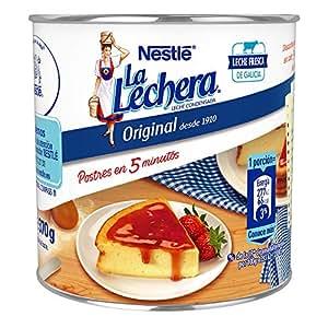 Nestlé La Lechera Leche condensada entera, Lata de leche abre fácil - Caja de 370