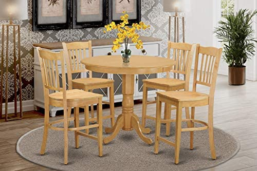 5 Pc counter height Dining room set-pub Table and 4 counter height Dining chair