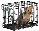 MidWest iCrate Double-Door Folding Metal Dog Crate, 22 Inches by 13 Inches by 16 Inches