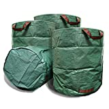 VINE RITUALS [3] Pack 272 Litre large garden bags. Reusable lightweight multi-purpose yard bags with handles for potting, pruning and home and gardening