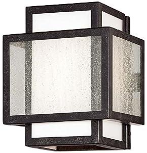 durable service Minka Lavery 4871-283 Camden Square 1 Light Bath Lighting, Aged Charcoal Finish