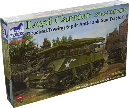 Bronco Models Loyd Carrier No.2 Mk.II Tracked Towing 6-PDR Anti-Tank Gun Tractor (1/35 Scale) ()