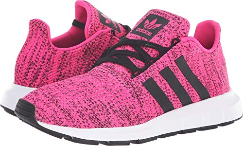 adidas Originals Kids Girl's Swift Run J (Big Kid) Shock Pink/Black 5.5 M US Big Kid
