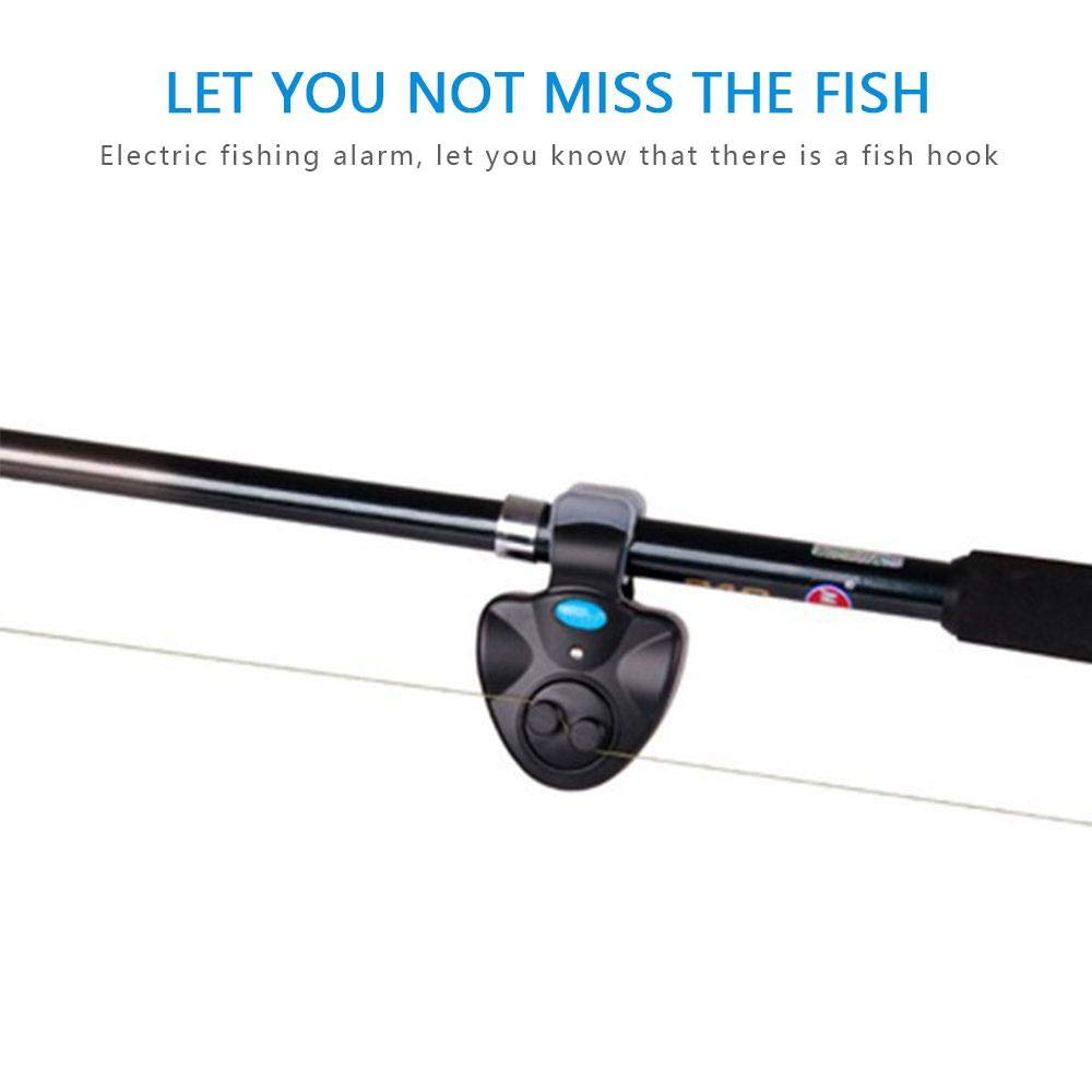 TEEPAO Fishing Bait Alarm Electronic Sound Indicator Sensitive Electronic Buffer Alert Bell Clip On Fishing Rod