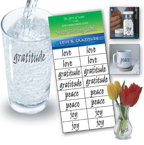 Water Blessing Labels: Love & Gratitude by The Spirit of Water (Image #1)