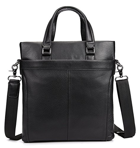 A4 Natural (Men's Genuine Leather Business Bag A4 Work Tote Cow Leather Shoulder Bag Black (black3))