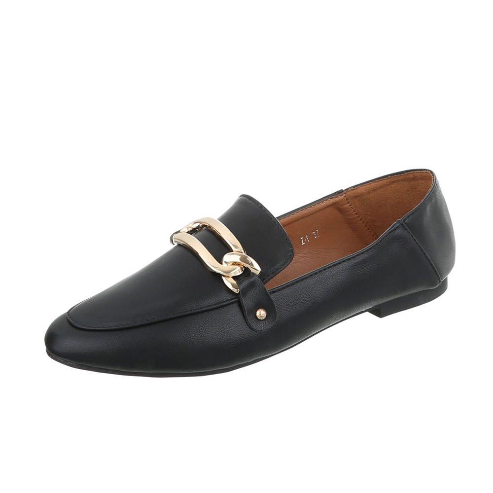Ital-Design Zapatos para Mujer Mocasines Tacón Ancho Slip: Amazon.es: Zapatos y complementos