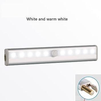 Mettime Làmpara del Armario 10 LEDs,Barra de Luz Inalámbrica con Sensor de Movimiento,