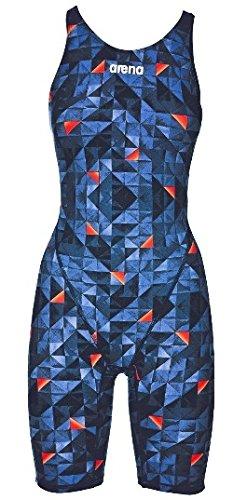 Arena Women's Powerskin St 2.0 LE Open Back Racesuit, Turquoise/Orange, Size 32