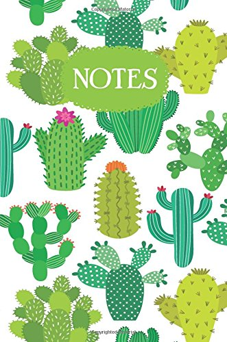 Notes: Cactus Flower Art Design Dot Grid Bullet Journal, 6 x 9 Succulent Composition Notebook, 120 Dotted Pages, Printed in USA