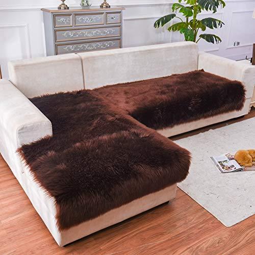 D&LE Largo Felpa Protector para sofás, Invierno Gruesas Europa Protector de sofá Antideslizante Multi-Size Mascota Perro...