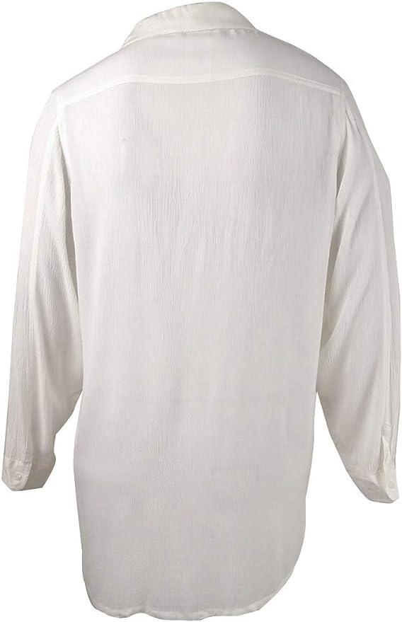 Ralph Lauren Lauren Camisa de Campamento de rayón Arrugado de ...