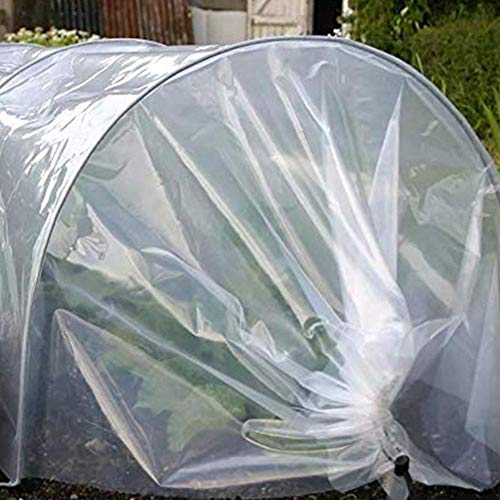 cuckoouk Transparent Garden Poly Tunnel,Greenhouse Plants Protector Cover,Green Grow House Tunnel,3M Width