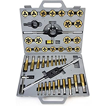 Titanium 40pc  MM Tap & Hexagon Die Set  Metric Size fast Shipping Business & Industrial