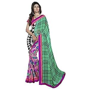Shilp-Kala Faux Georgette Printed Multi Colored Saree SKN78009A