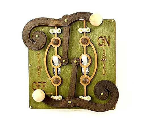 Green Tree Jewelry Double Fulcrum Green Wood Light Switch Plate