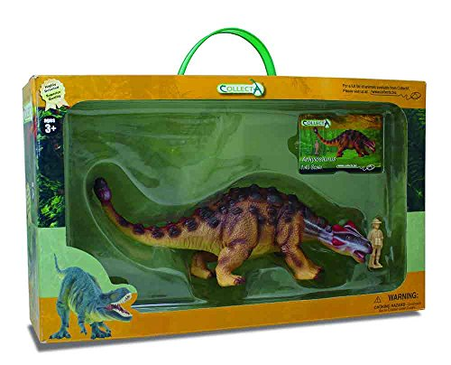 CollectA Ankylosaurus Toy in Window Box (1:40 Scale)