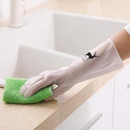 Plisco Guantes de goma para lavavajillas, sección delgada ...