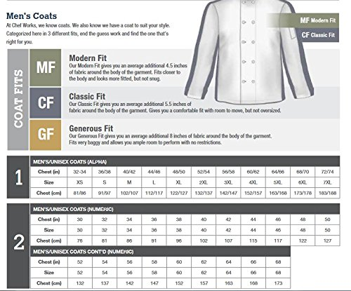Chef Works Men's Tivoli Chef Coat (KNSS) by Chef Works (Image #3)