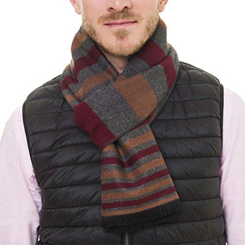Scarf Men Reversible Elegant Cashmere