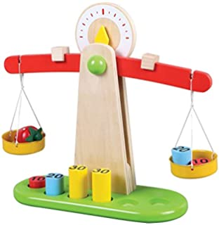 b186fae0a629 Children Toy Wooden Balance Scale with 6 Weights, Great for ...