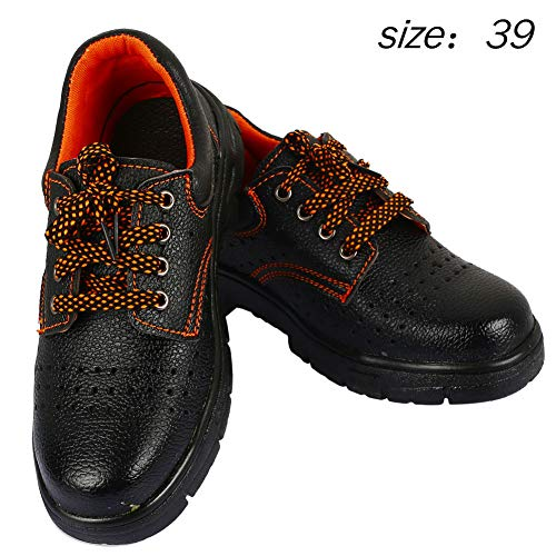 Hanbaili Safety Work Shoes Practical Safety Shoes Steel with Gum-Elastic  Steel Architectural Puncture Proof