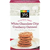 365 Everyday Value, Gluten Free White Chocolate Chip Cranberry Oatmeal Thin & Crispy Cookies, 7 Ounce