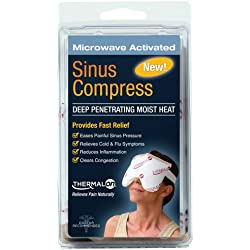 "Thermalon Microwave Activated Moist Heat-Cold Sinus Mask for Sinus Pressure, Headaches, TMJ, 5.5 "" X 8"""