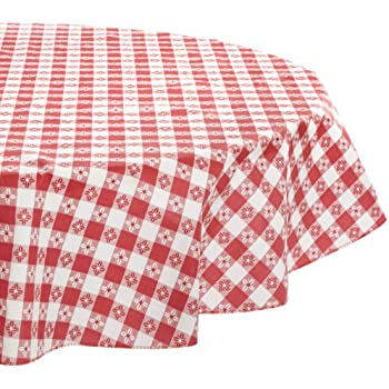 Amazon Com Kane Home Products Eco Vinyl Tablecloth Red