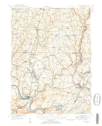 - YellowMaps Tunkhannock PA topo map, 1:62500 Scale, 15 X 15 Minute, Historical, 1946, Updated 1952, 20.9 x 17 in - Tyvek