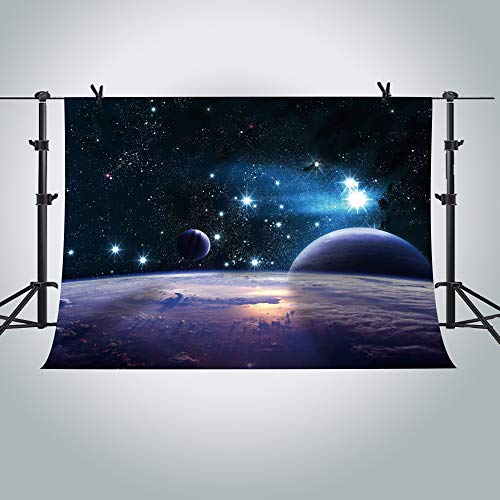 (MME 7x5Ft Cosmic Sky Photography Background Shining Stars Backdrop Star Wars Photo Video Studio Props)