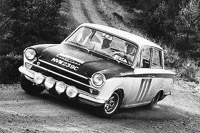 1966 Lotus Cortina Mk 1 at RAC Rally - Promotional Race Poster