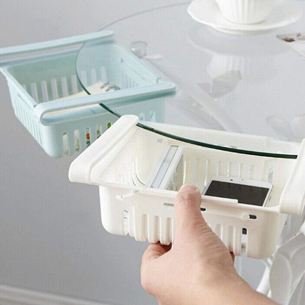 Blue cassetto Estraibile organizzatore per frigo salvaspazio Baiwka 1 Pezzi Regolabile per Mantenere Gli Alimenti freschi Organizer per Frigorifero