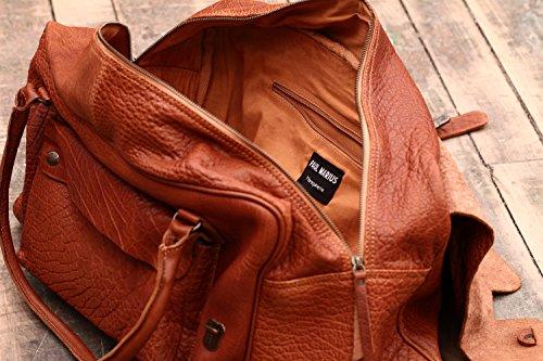 LE HONFLEUR Inchiostro Blu borsa pelle vintage, Borsa da viaggio, borsa a tracolla, PAUL MARIUS, Vintage & Retro