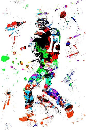 Tom Brady Wall Art - Tom Brady Poster - New England Patriots Canvas - Available in PRINT or CANVAS
